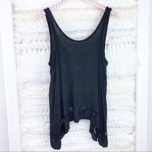 Intimately Free People Tank Lace Asymmetrical